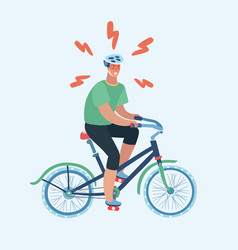 isolated man riding bike design vector image