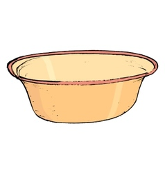 kitchen bowl vector image