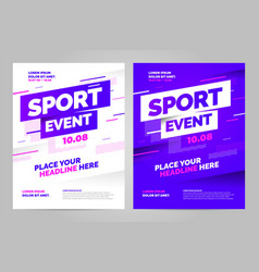 layout design template for sport vector image