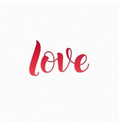 Love Logo Love Calligraphic Print for Poster Red vector