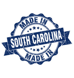 made in south carolina round seal vector image