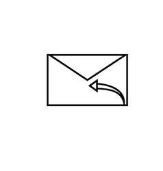 Mail reply icon vector