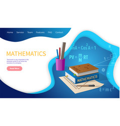 mathematics algebra and geometry school discipline vector image