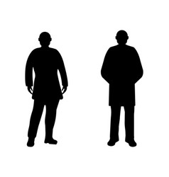 Men silhouette on white background vector