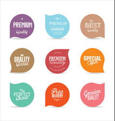 modern badges and labels collection 1 vector image
