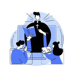 Online church abstract concept vector