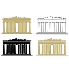 Parthenon acropolis in athens greece vector