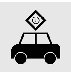 Passenger car icon vector