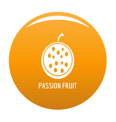 passion fruit icon orange vector image