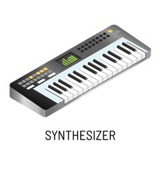 Piano or synthesizer electronic music playing vector