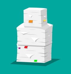 Pile of papers office documents heap vector