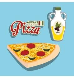 Pizza italian food vector