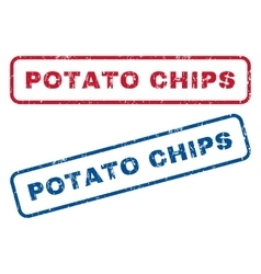Potato Chips Rubber Stamps vector