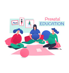 Prenatal classes image vector