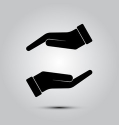 protecting hands icon vector image