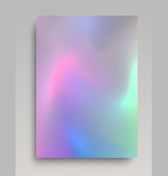 Realistic glowing hologram paper vector