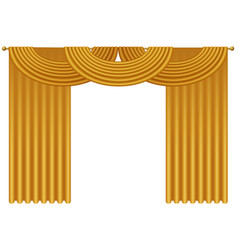 realistic golden luxury curtains and vector image