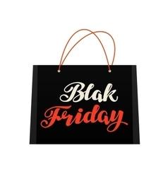Sale Black Friday Bag for shopping vector image