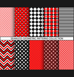 Seamless geometric patterns collection vector