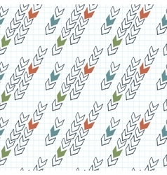 seamless pattern of arrows on graph paper vector image