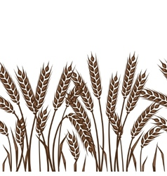 Seamless pattern with ears of wheat vector image