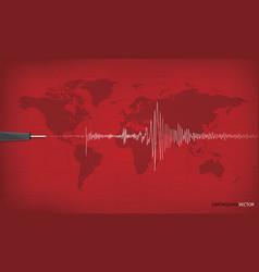 Seismic activity graph showing an earthquake vector