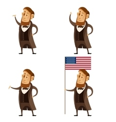 set lincoln presidents vector image