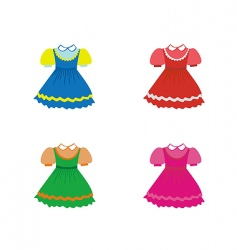 Set of children dresses vector
