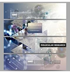 Set of modern banners DNA molecule vector