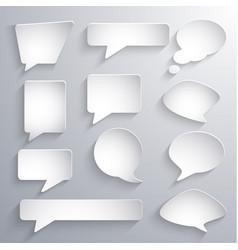 set paper 3d speech bubbles vector image