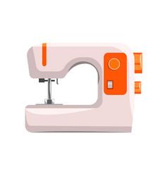 Sewing machine modern equipment of dressmaker vector