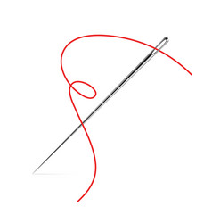 Sewing needle icon thread sew vector