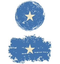 Somalia round and square grunge flags vector