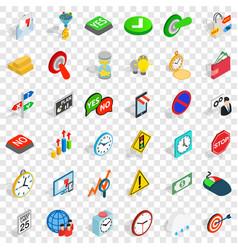 Speedometer icons set isometric style vector