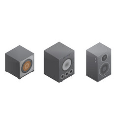 stereo system icons set isometric style vector image