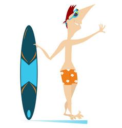 Surfer man vector