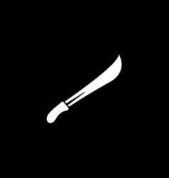 sword icon on black background black flat style vector image