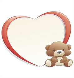 teddy bear with frame vector image