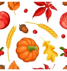 Thanksgiving Day or autumn seamless pattern vector image
