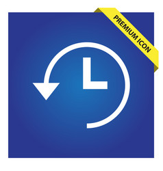 Time back icon for web and mobile vector