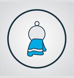 towel icon colored line symbol premium quality vector image