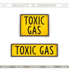 Toxic gas warning signs vector