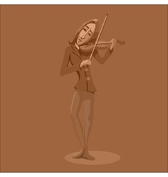 Vintage violinist playing vector