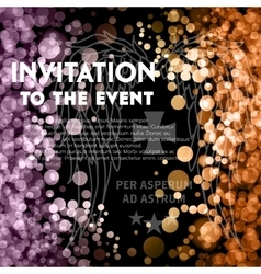VIP party premium invitation vector image