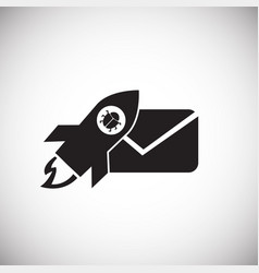 virus mail on white background icon vector image