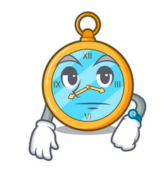 waiting gold vintage clock with picture cartoon vector image