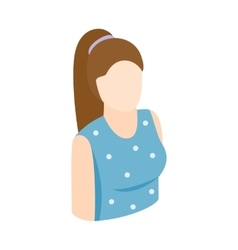 Woman icon isometric 3d style vector image