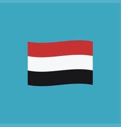 yemen flag icon in flat design vector image