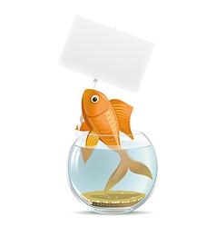 Aquarium fish blank vector image