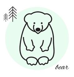 bear thin line icon vector image